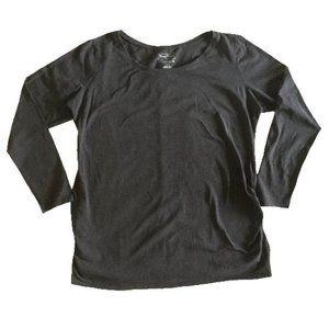 BumpStart Maternity Charcoal Grey Longsleeve Basic Tee Size L